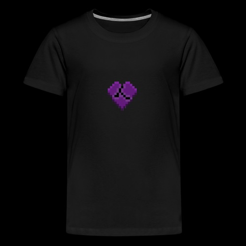 Pixel Purple Broken Heart - Kids' Premium T-Shirt