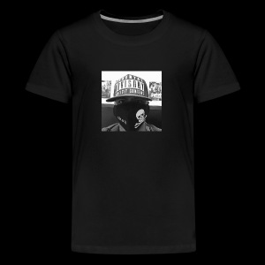 freaker126 covered face black and white photo - Kids' Premium T-Shirt