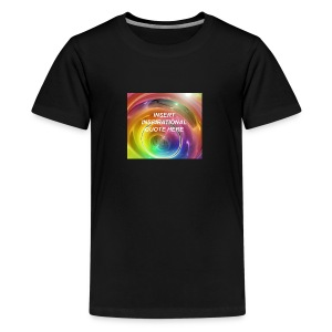 Insert rainbow here - Kids' Premium T-Shirt