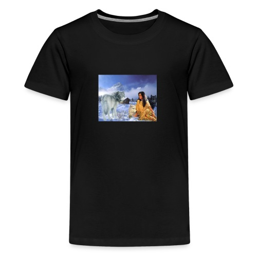 indian wolf mountains - Kids' Premium T-Shirt