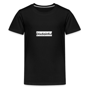 Distainful black letters - Kids' Premium T-Shirt