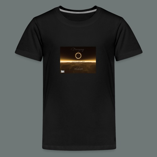 Dannysong Eclipse design Love's Not Dead - Kids' Premium T-Shirt