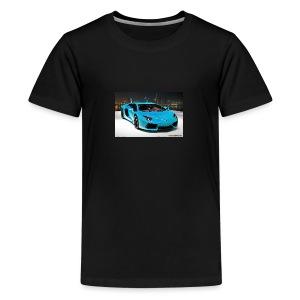 turquoise lamborghini aventador - Kids' Premium T-Shirt