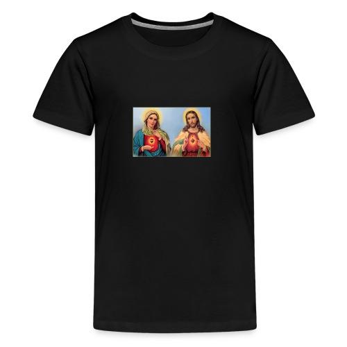 Sacred Heart Jesus and Mary - Kids' Premium T-Shirt