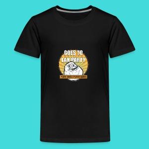 lanparty_singleplayer_meme - Kids' Premium T-Shirt