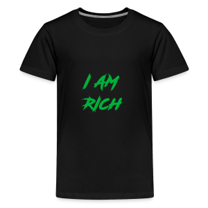 I AM RICH (WASTE YOUR MONEY) - Kids' Premium T-Shirt