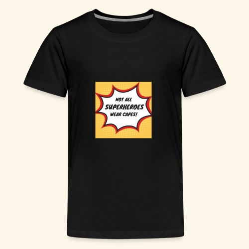 superhero no cape - Kids' Premium T-Shirt