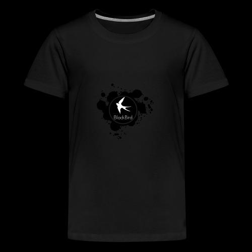 BlackBird Ink Spill Logo - Kids' Premium T-Shirt
