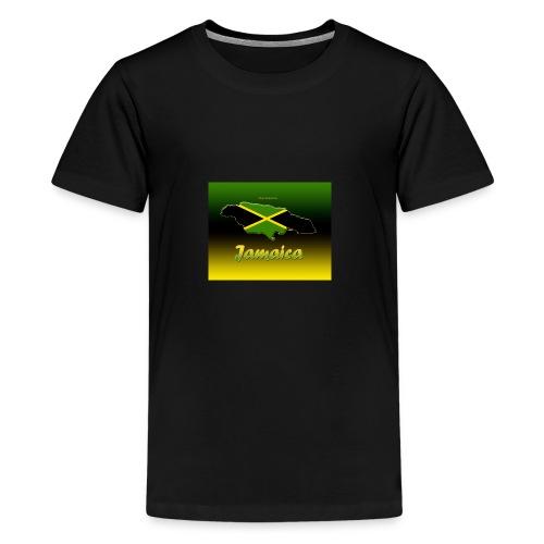 Jamaica map t shirt - Kids' Premium T-Shirt