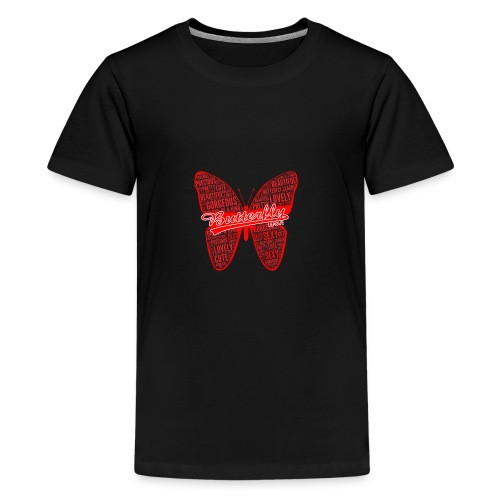 BUTTERFLY WORD RED - Kids' Premium T-Shirt