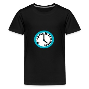 Clock limitless white - Kids' Premium T-Shirt