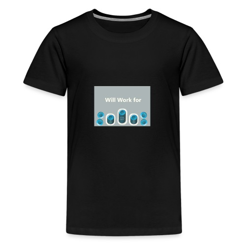 Will_work_for_buttons - Kids' Premium T-Shirt