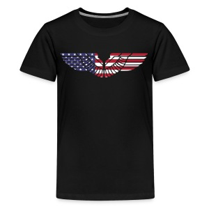 sign wings american - Kids' Premium T-Shirt