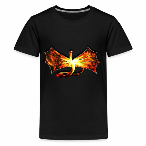 Flaming winged Serpent - Kids' Premium T-Shirt