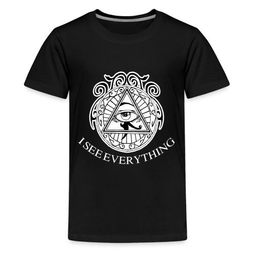I see Everything Illuminati Secret Society T-Shirt - Kids' Premium T-Shirt