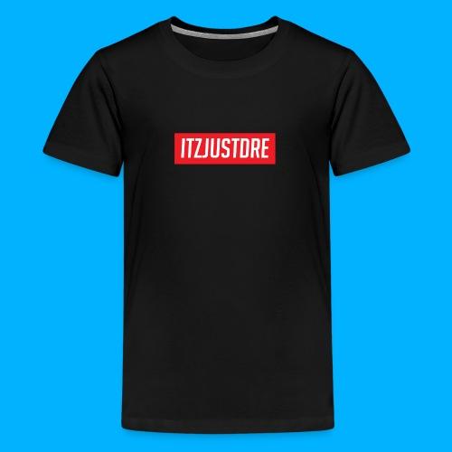 Red ItzJustDre Box Logo - Kids' Premium T-Shirt