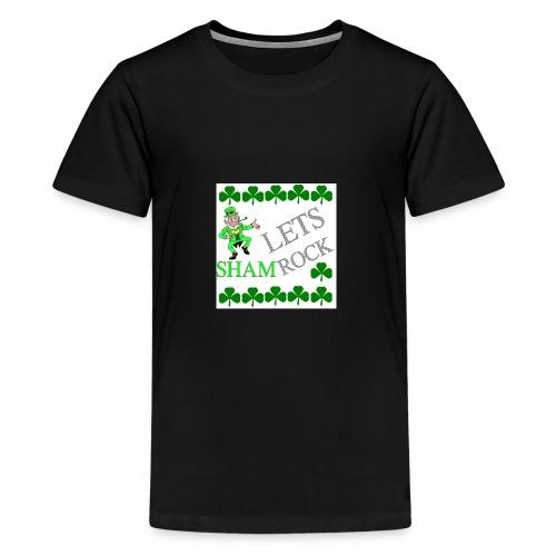 LEPRECHAUN LETS rock - Kids' Premium T-Shirt