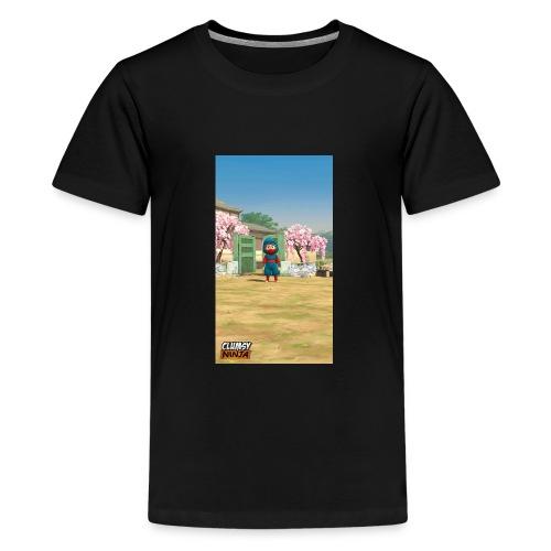 Clumsy ninja hoodie - Kids' Premium T-Shirt