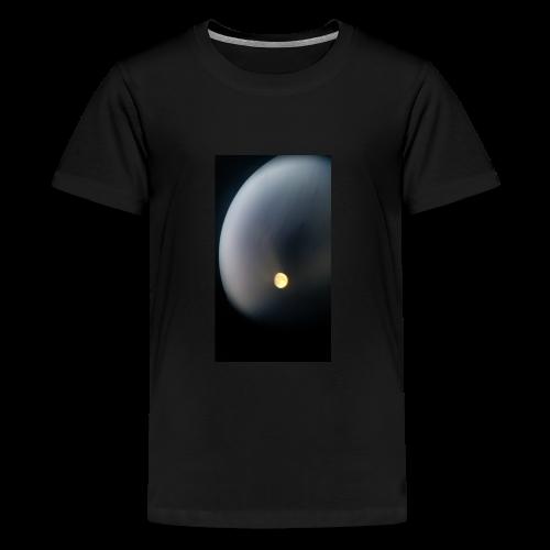 Moon through binoculars - Kids' Premium T-Shirt