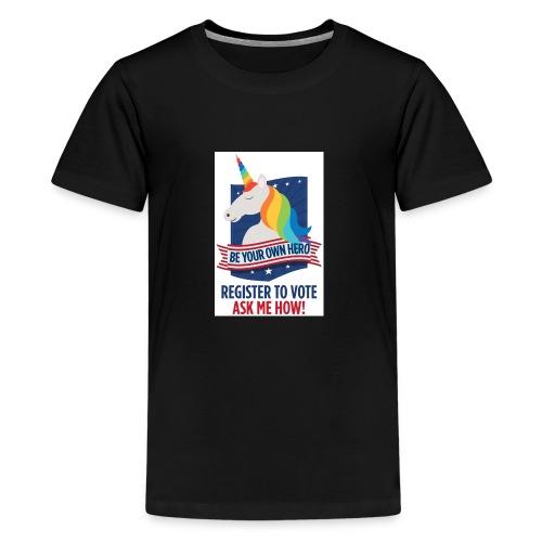 GLBTQIA Pride Voter Registration Be Your Own Hero - Kids' Premium T-Shirt