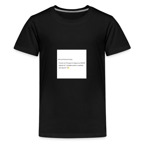 Idk, I just didn't notice lol - Kids' Premium T-Shirt