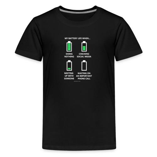 My Battery Life When... - Kids' Premium T-Shirt