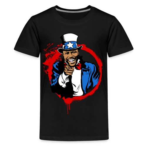 Floyd Mayweather Uncle Sam IRS Tax (Red Circle) - Kids' Premium T-Shirt