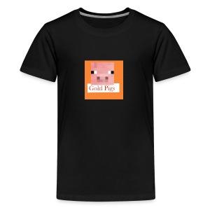 Gold Pigs- - Kids' Premium T-Shirt