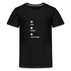 Home - Portfolio - About & Contact 2 - Kids' Premium T-Shirt