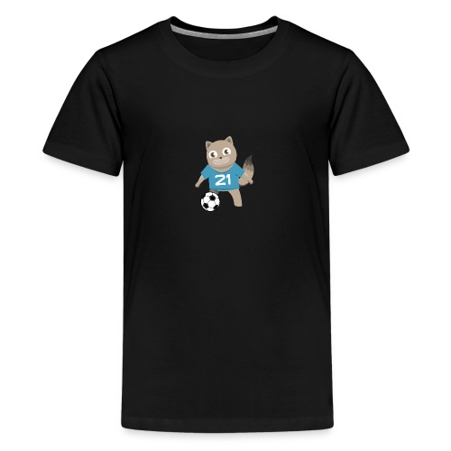 Kitty Soccer - Football - Cat with Ball - Kids' Premium T-Shirt