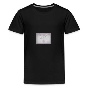 Certificate of God's handiwork - Kids' Premium T-Shirt