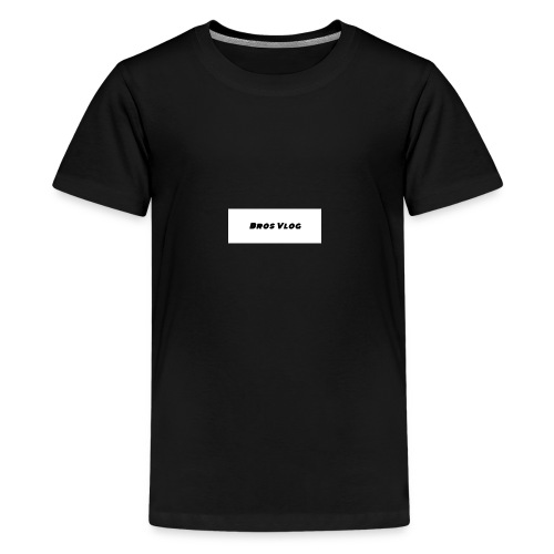 Bros Vlog Merch- White Background - Black wording - Kids' Premium T-Shirt