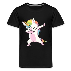 Unicorn cute dabbing T-Shirt Funny Dab Dance Gift - Kids' Premium T-Shirt