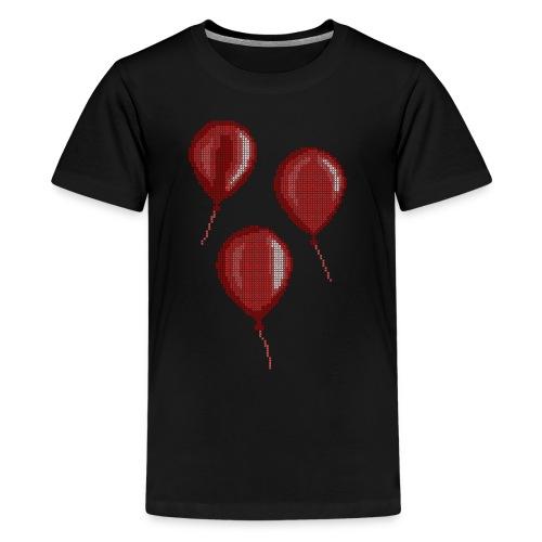 Three Red Balloons Cross Stitch Design - Kids' Premium T-Shirt