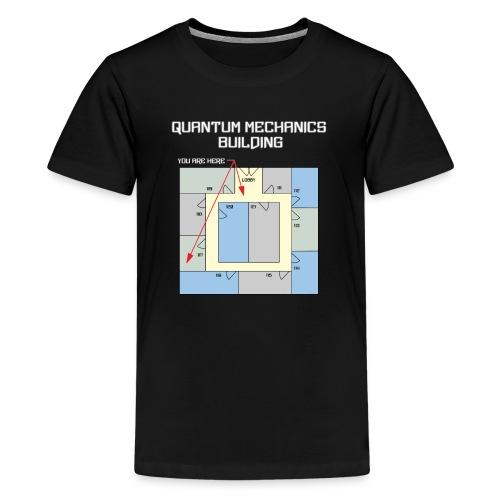Colorful Quantum Building White Text - Kids' Premium T-Shirt