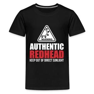 Authentic Redhead Funny Women T-Shirt - Kids' Premium T-Shirt