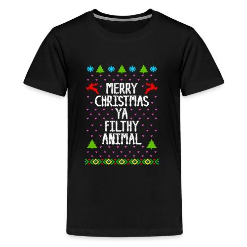 Merry x mas ya filthy animals Full Color - Kids' Premium T-Shirt