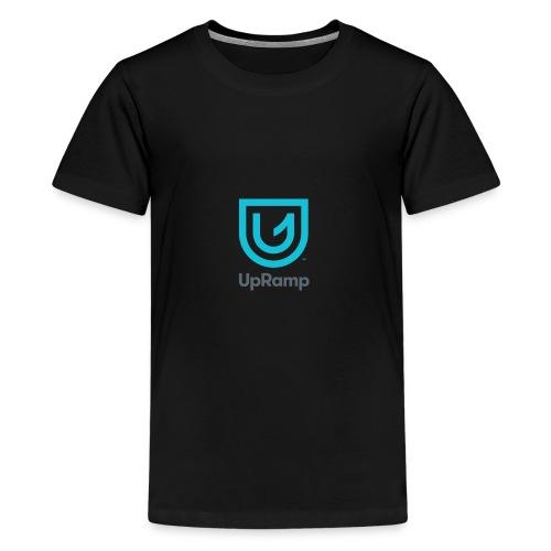 UpRamp Logo Blue Stacked ColorWhite - Kids' Premium T-Shirt