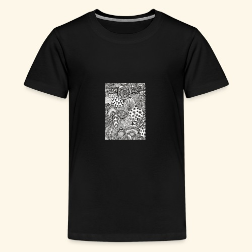 Black and white tigerprint - Kids' Premium T-Shirt