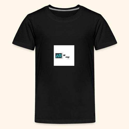 premium AR vlogs half sleeves tee - Kids' Premium T-Shirt