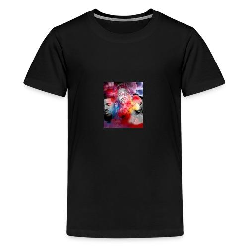 Black T-Shirt Drake Kendrick J.Cole - Kids' Premium T-Shirt