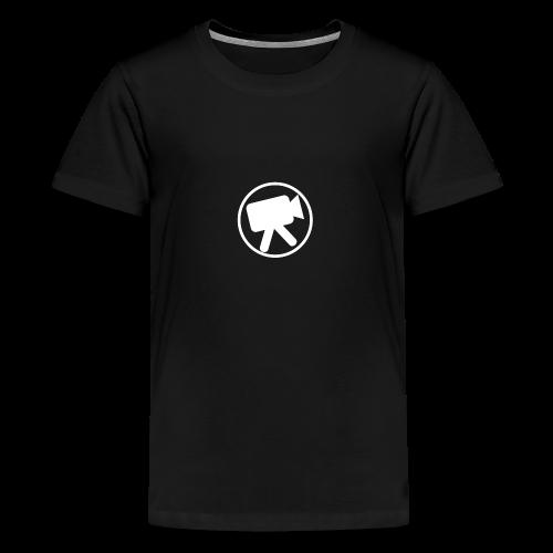 logo_wit_videotijd - Kids' Premium T-Shirt