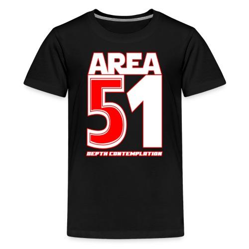 Area 51 T-Shirt Depth Contemplation - Kids' Premium T-Shirt