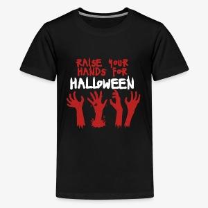 Raise Your Hands For Halloween - Kids' Premium T-Shirt