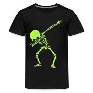 Dabbing Skeleton Shirt Dab Hip Hop Skull Pre - Kids' Premium T-Shirt