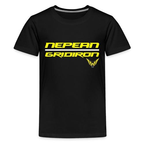 NepeanGridironWhite png - Kids' Premium T-Shirt