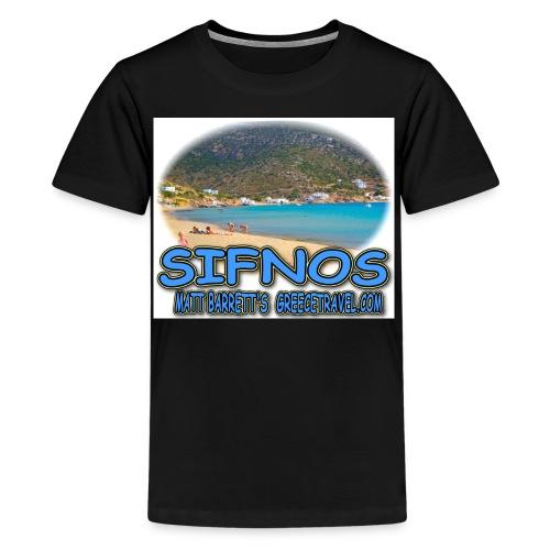 SIFNOS VATHI jpg - Kids' Premium T-Shirt