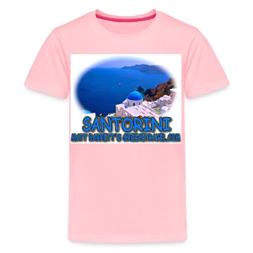 SANTORINI CHURCH jpg - Kids' Premium T-Shirt