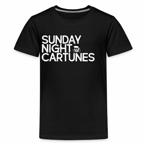 Sunday Night Cartunes Skull - Kids' Premium T-Shirt