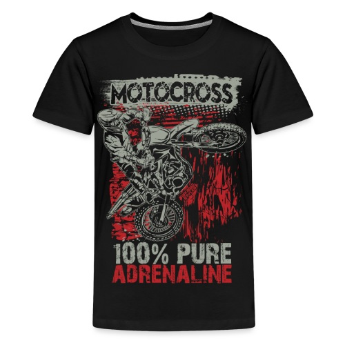 Motocross Pure Adrenaline - Kids' Premium T-Shirt